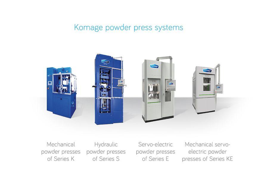 Преси за обработка на прахообразни материали - KOMAGE
